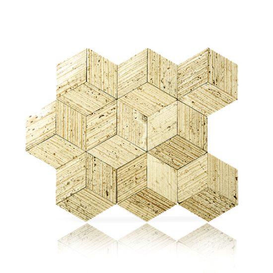 Mosaico Cubo Grafiatto Mix Crema